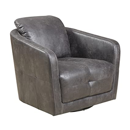 Fine Amazon Com Emerald Home Blakely Gray Accent Chair With Faux Inzonedesignstudio Interior Chair Design Inzonedesignstudiocom