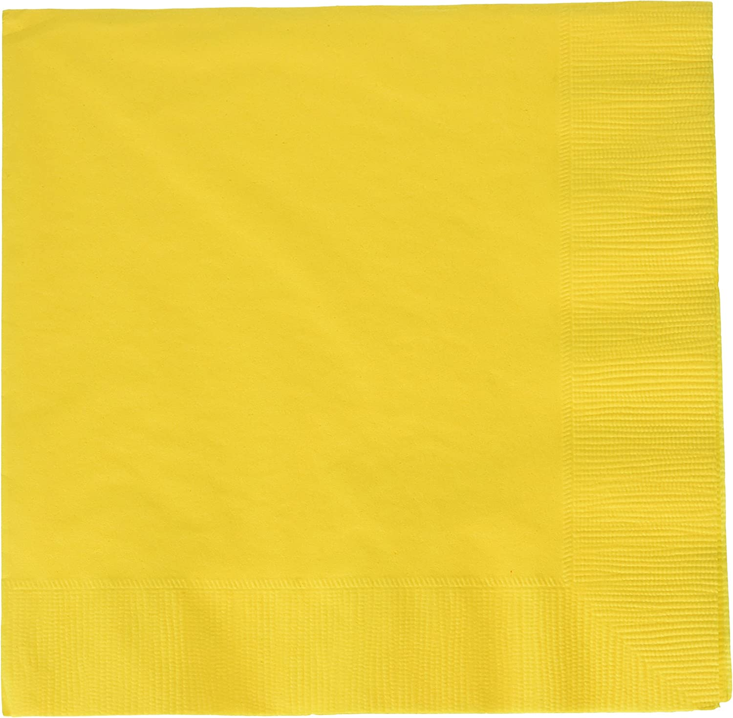 amscan Yellow Sunshine 2-Ply Luncheon Napkins, 50 Ct. | Party Tableware, 6.5
