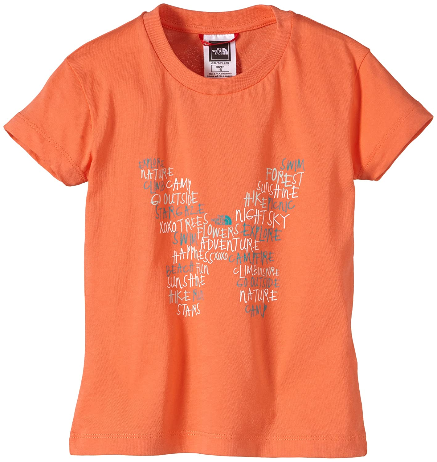 The North Face Girl's Short Sleeve Butterfly T-Shirt