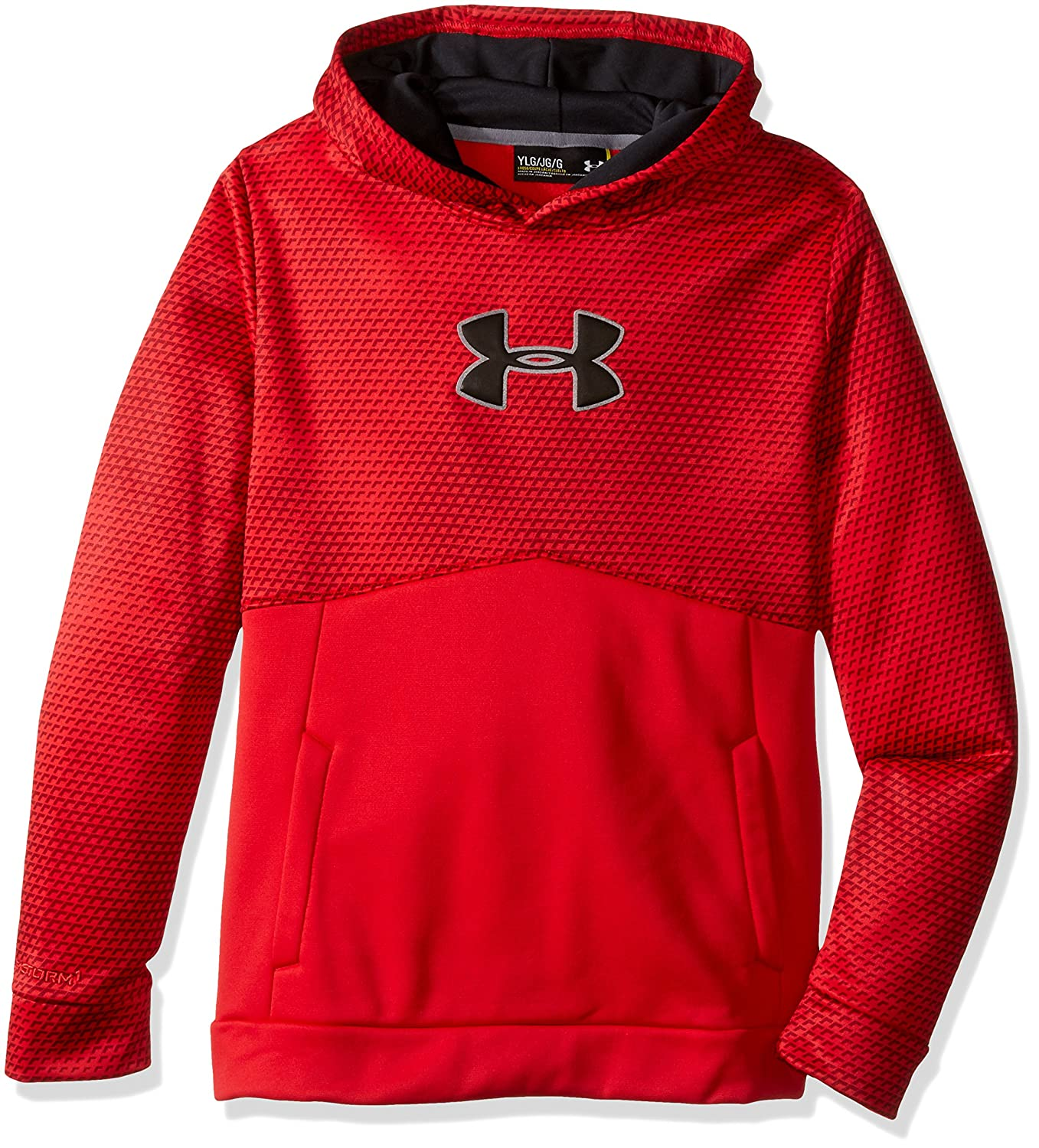 Under Armour Boys' Storm Armour Fleece Mid Logo Hoodie Under Armour Apparel 1282927