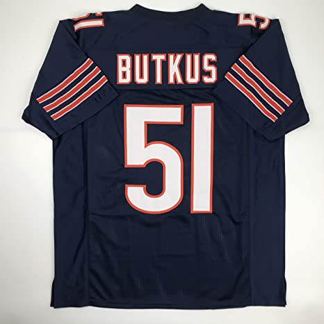 90aa6618 Amazon.com: Unsigned Dick Butkus Chicago Blue Custom Stitched Football  Jersey Size Men's XL New No Brands/Logos: Sports Collectibles