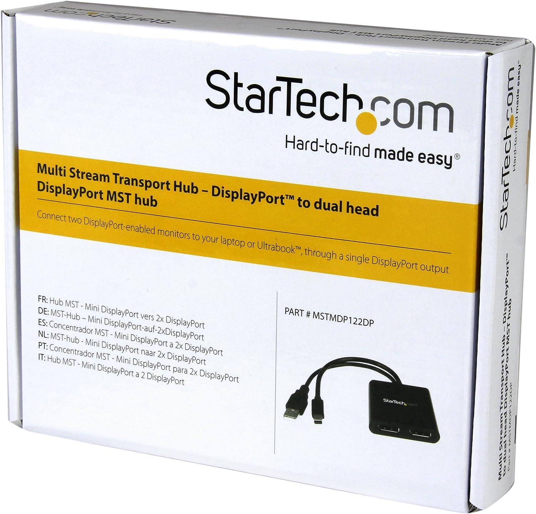 MSTMDP122DP MST Hub mDP 1.2 to 2x DP Mini DisplayPort to DisplayPort Multi Monitor Splitter StarTech.com Mini DisplayPort MST Hub