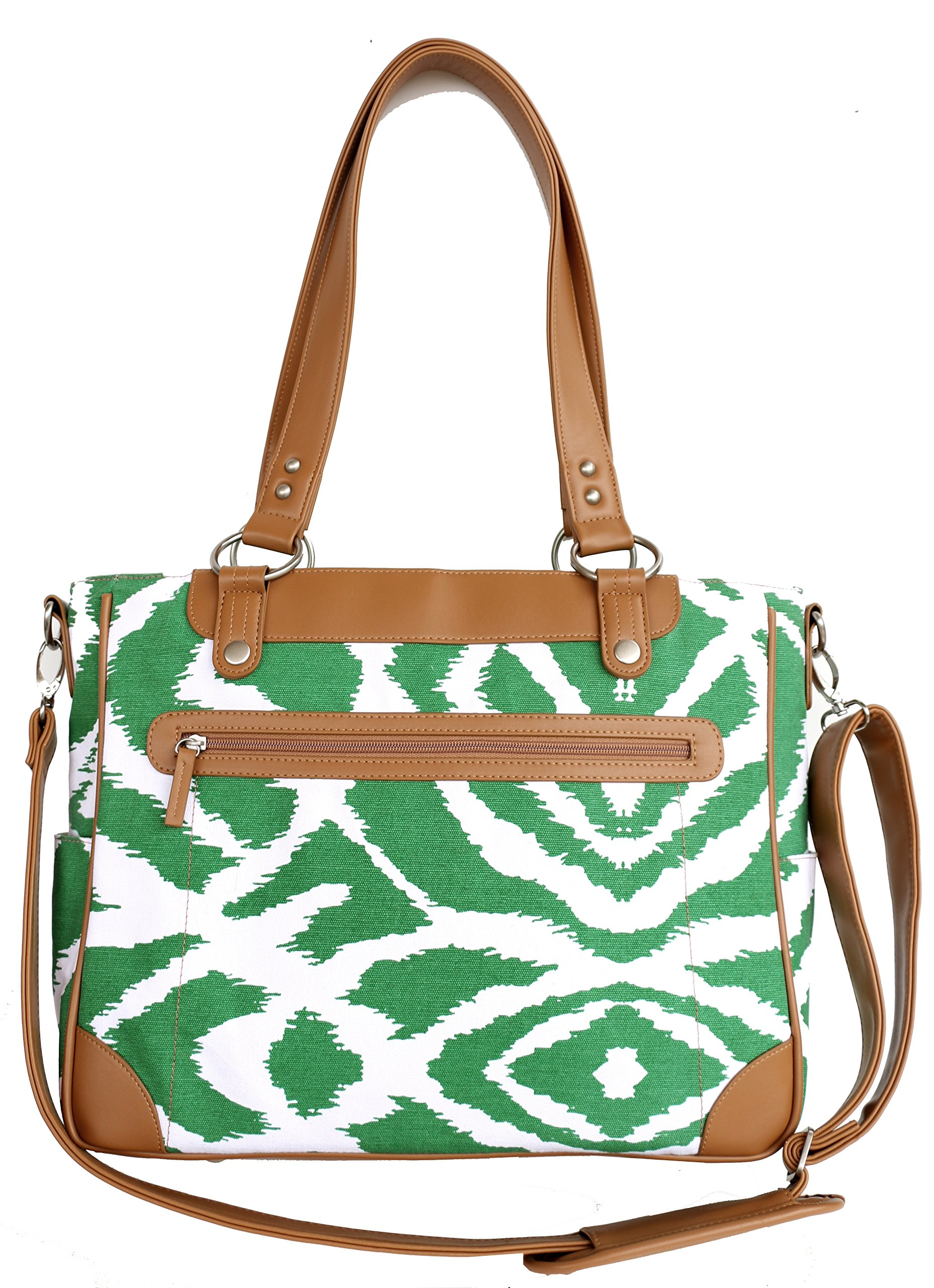 Kailo Chic Camera and Laptop Bag (Emerald Ikat)