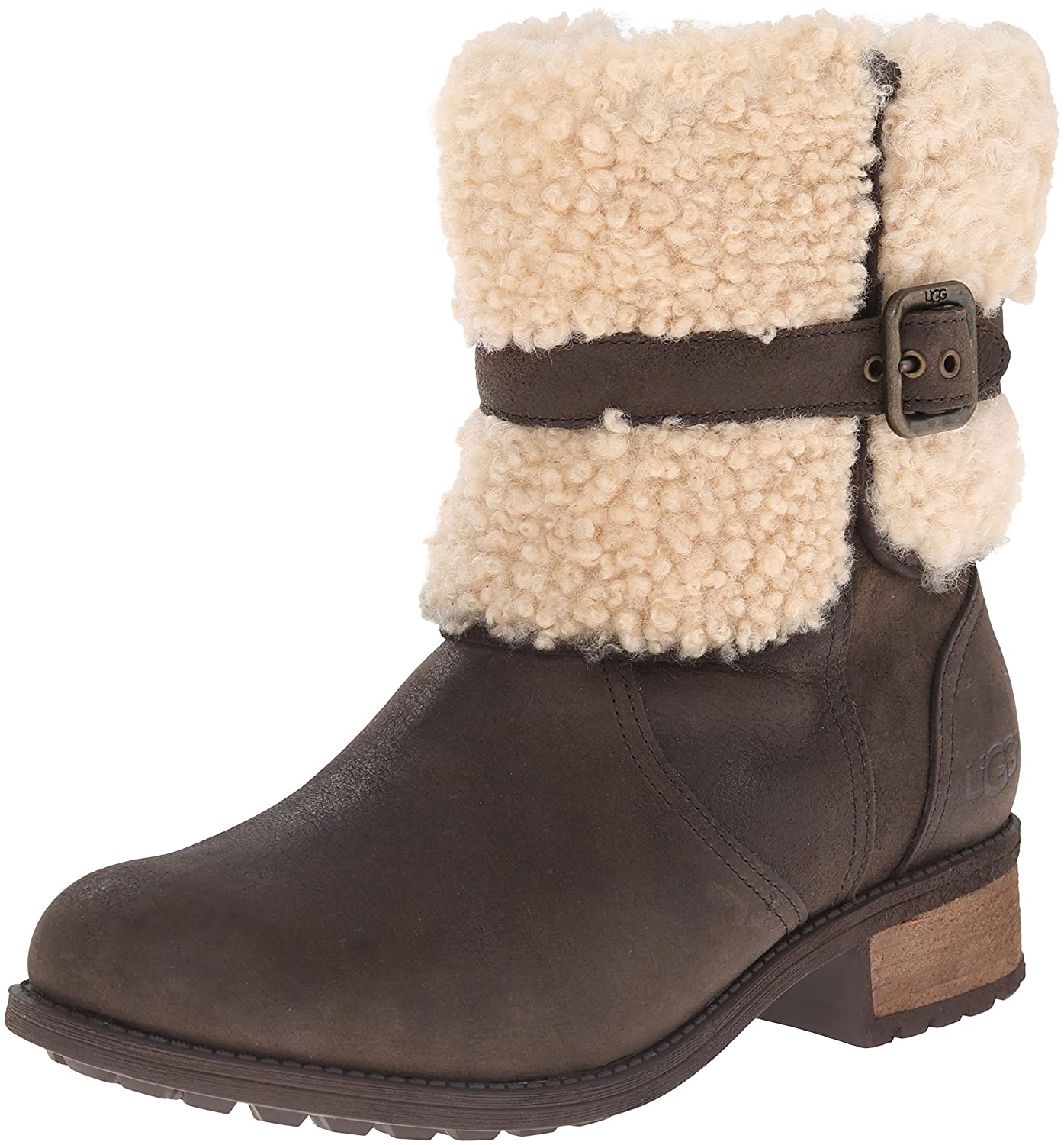 UGG® Women's Blayre Round Toe Leather Boots | Bloomingdale's