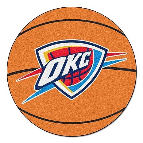 Fanmats NBA Oklahoma City Thunder Nylon Face Basketball Rug