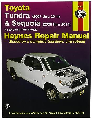 amazon com haynes repair manuals toyota tundra 2007 2014 and rh amazon com 2003 toyota sequoia service manual 2005 toyota sequoia service manual