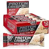 BSN Protein Bars - Protein Crisp Bar by Syntha-6, Whey Protein, 20g of Protein, Gluten Free, Low Sugar, Vanilla Marshmallow,