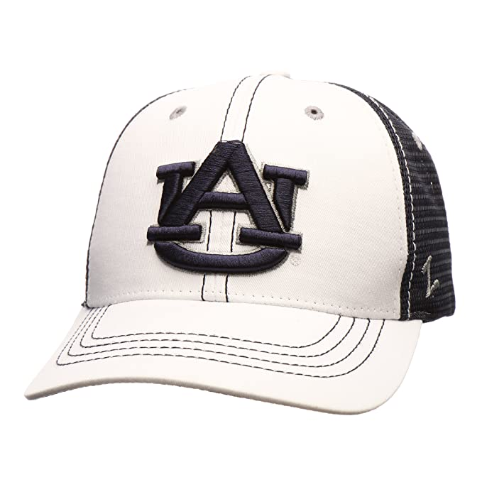quality design 0c213 d8cf1 Amazon.com   ZHATS Auburn Tigers WhiteBoard Adjustable Snapback Cap - NCAA  Trucker Mesh, One Size Baseball Hat   Clothing