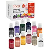 "Food Coloring Liqua-Gel - 12 Color ""Bold"" Variety Kit 2 in .75 fl. oz. (20ml) Bottles"