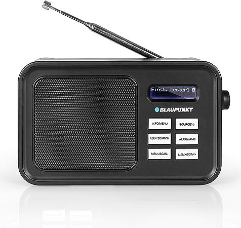 Blaupunkt Radio Dab + RXD 60 con batería, Radio FM portátil con Entrada Auxiliar y Antena telescópica