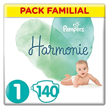 Pampers Harmonie Couches Taille 1 2 5 Kg Pack Familial 140