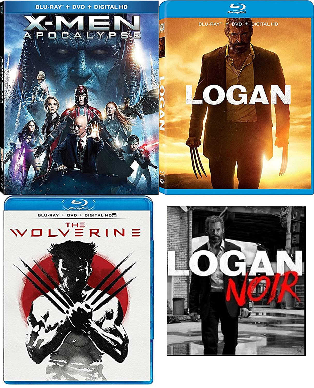 Noir Logan Special Edition 3 Disc Movie Pack Blu-Ray + DVD + DHD ...