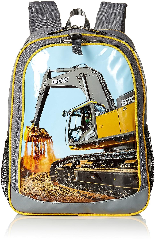 (Grey) - John Deere Boys' Backpack, Grey B06XS2TJ8V