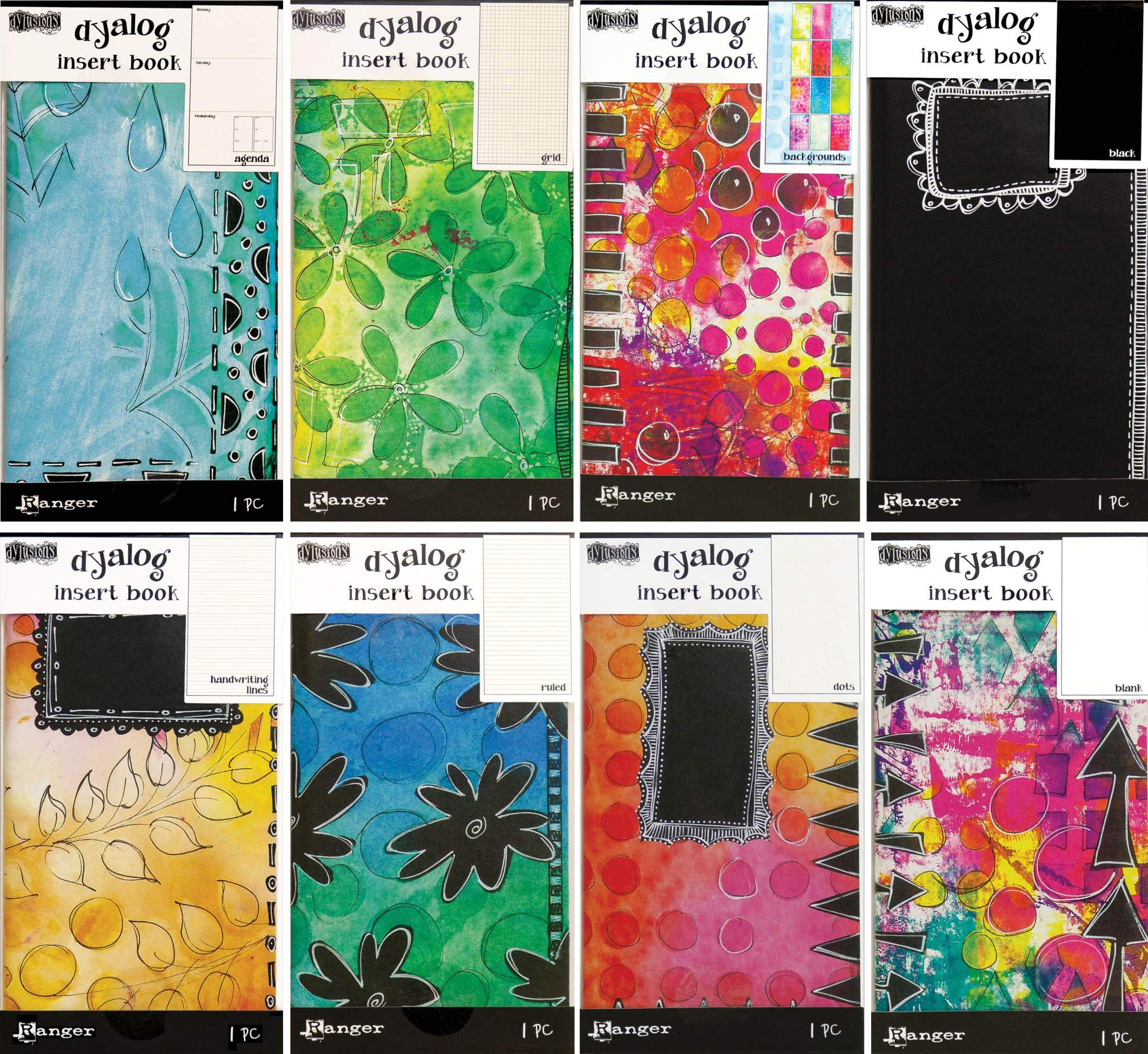 Dyan Reaveley's Dylusions Dyalog Insert Books #2-2019 - 8 Item Bundle by Dylusions