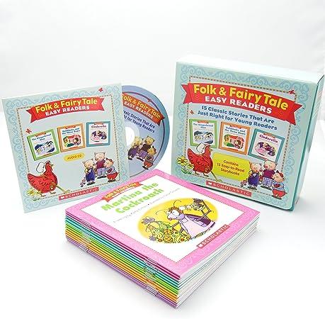 スカラスティック Folk & Fairy Tale Easy Readers 英語教材 15冊セット CD付