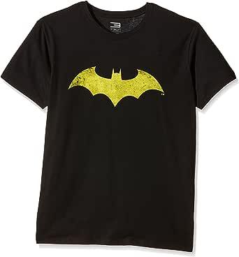 Camiseta de Manga Corta para Hombre de Batman, Cuello Redondo, Manga Corta, Alta tecnología, de Jack & Jones