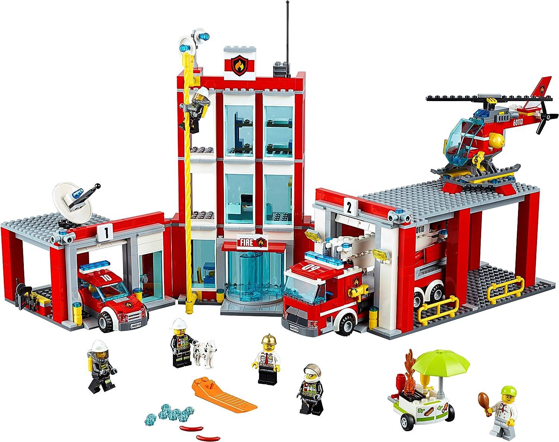 Feuerwache Spielzeug Testsieger Kunststoff: Lego City Große Feuerwehrstation