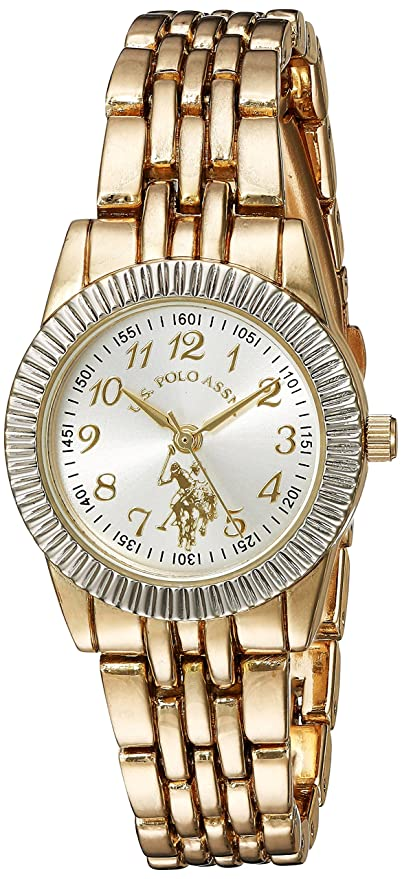 Amazon.com: U.S. Polo Assn. Womens Quartz Metal and Alloy Casual Watch, Color:Gold-Toned (Model: USC40098): Watches