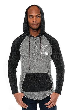 huge discount 92bd2 fe975 Ultra Game NFL Atlanta Falcons Men's Fleece Hoodie Pullover Sweatshirt  Henley, Team Color, Black, Large