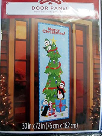 amazoncom penguin door decoration by holiday time garden outdoor