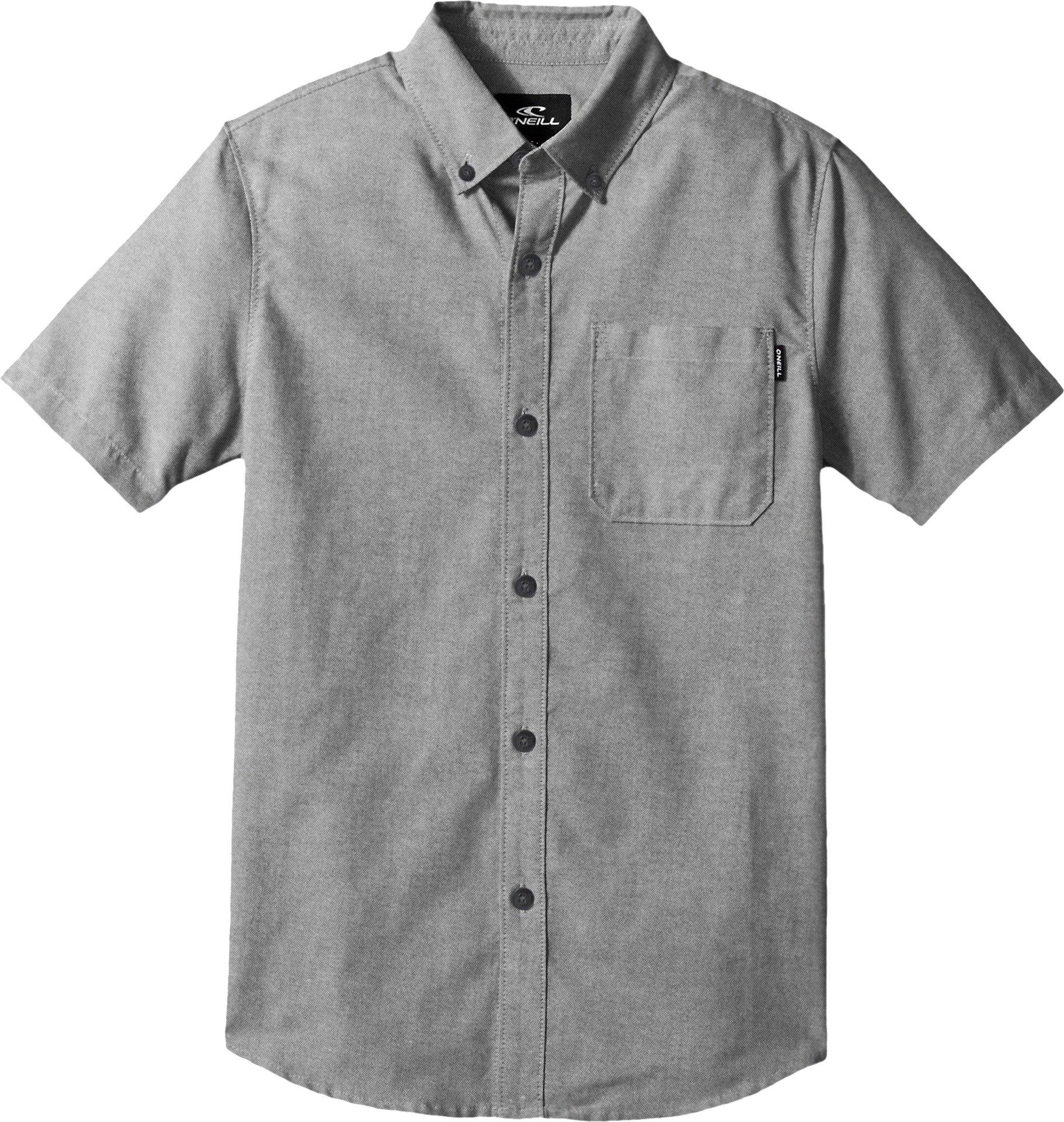 O'Neill Big Boys Banks Short Sleeve Woven, Black, XL