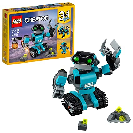 LEGO Creator 3in1 Robo Explorer Building Blocks for Kids 7 to 12 Years (205  Pcs) 31062