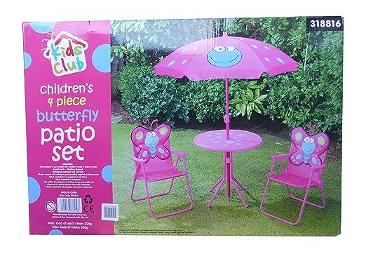 Conjunto de 4 piezas para muebles y sombrilla de jardín para niños ...
