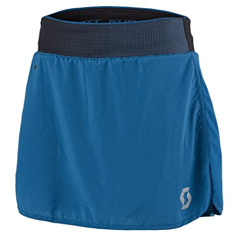 Scott running Falda pantalon ws trail run-bla/seap blu-xl: Amazon ...