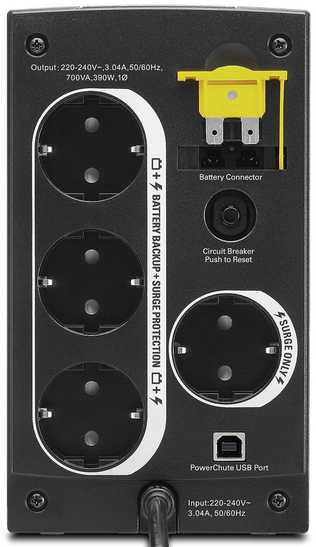 AVR, 4 Schuko Ausg/änge, USB, Shutdown Software Unterbrechungsfreie Stromversorgung 700VA BX700U-GR APC Back-UPS BX