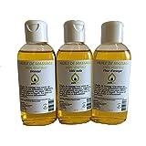 Coffret Modelage Rose des Sables- Mix de 3 flacons d'Huiles de massage Parfumées Fleur d'Oranger, 1001 Nuits et Oriental, 100% végétale - 3 x 100 ml