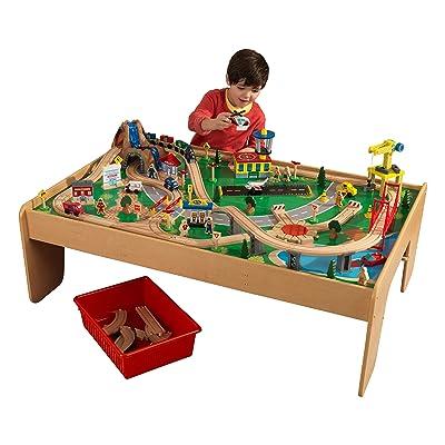 KidKraft Waterfall Mountain Train Set and Table: Toys & Games