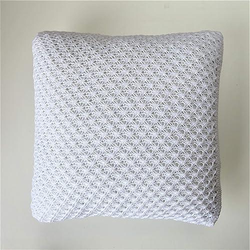 Funda de cojin 35x35 cm blanca de algodon: Amazon.es: Handmade