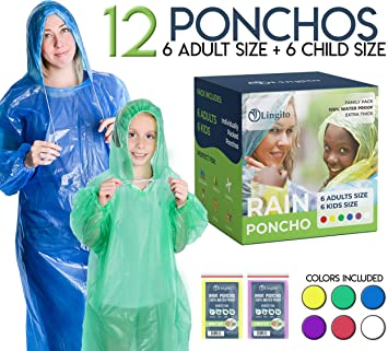 Light Weight Emergency Rain Poncho With Hood