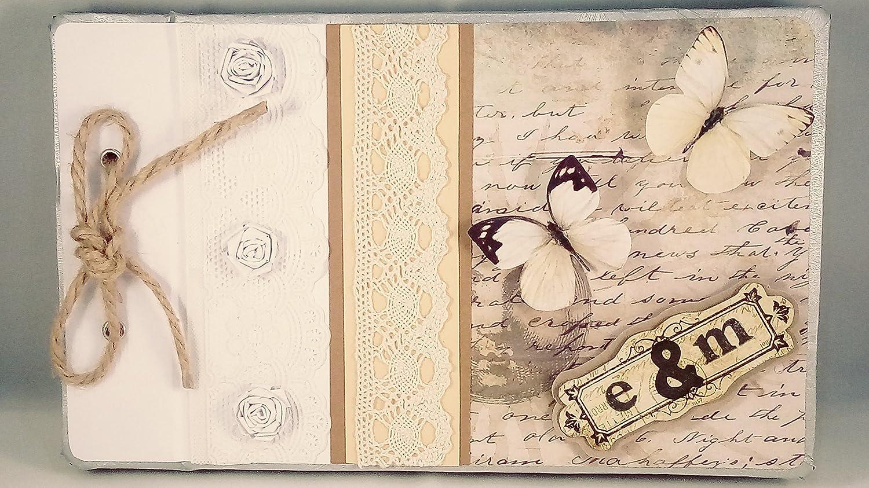 Libro de firmas para boda personalizado | Libro de firmas estilo vintage