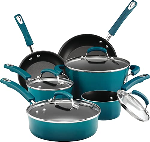 Rachael Ray Brights Nonstick Cookware Pots and Pans Set