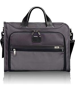 541fe670821 TUMI - Alpha 2 Slim Deluxe Portfolio Bag - Organizer Briefcase for Men and  Women -