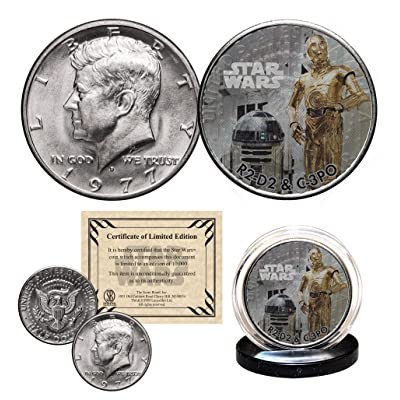 R2-D2 / C-3PO - STAR WARS Officially Licensed 1977 Kennedy Half Dollar Coin with Certificate: Everything Else