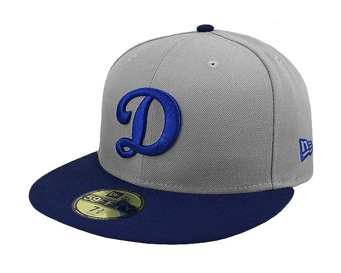 New Era 59Fifty Men s Hat Los Angeles Dodgers MLB Royal  quot D quot  Gray   d33822a0ec5f