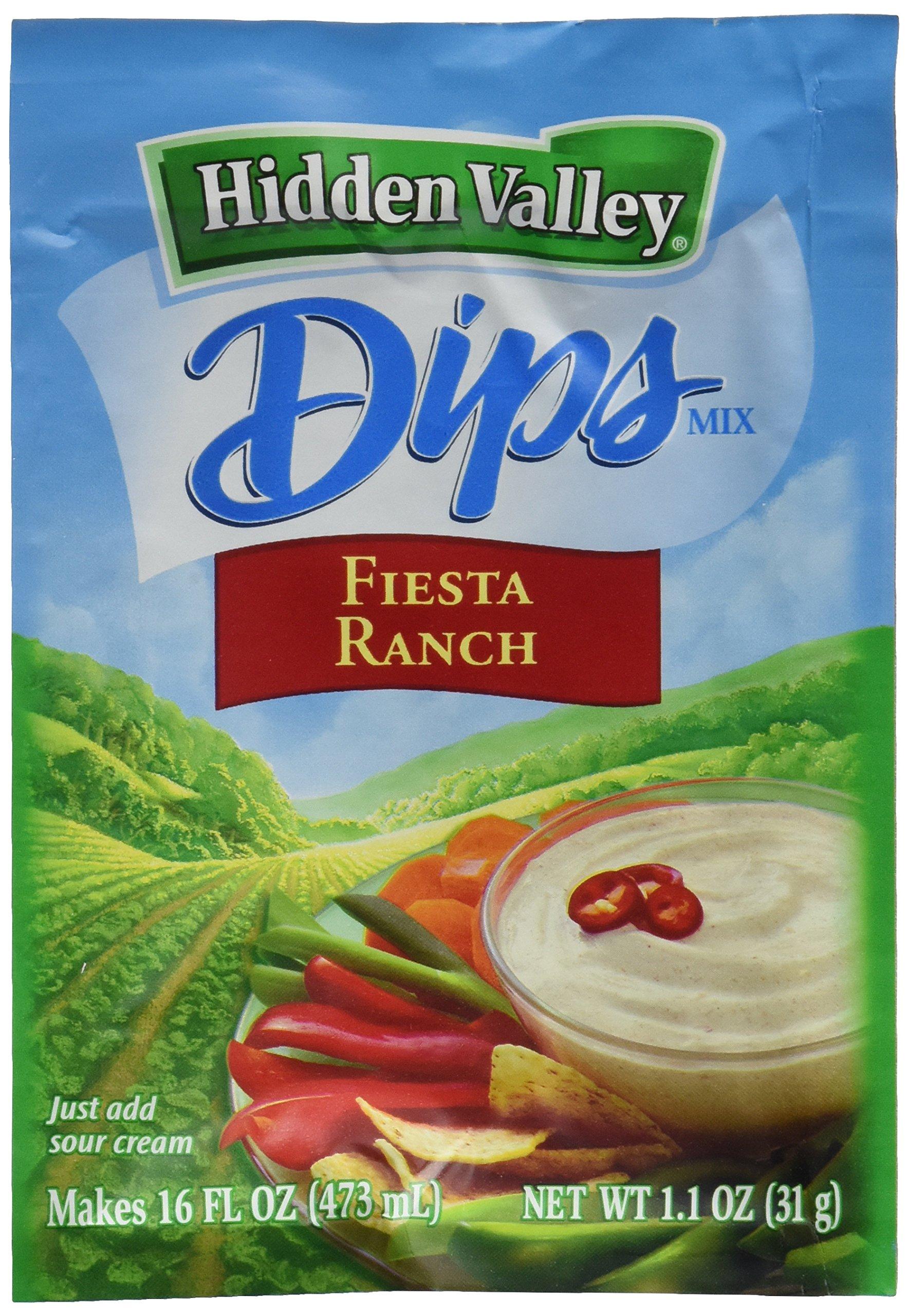 Hidden Valley Fiesta Ranch Dips Mix, Gluten Free -Pack of  24 by Hidden Valley