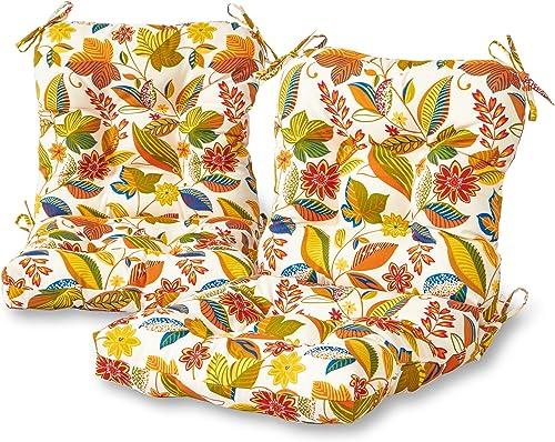 Greendale Home Fashions AZ6815S2-ESPRIT Foliage Outdoor Chair Cushion Set of 2