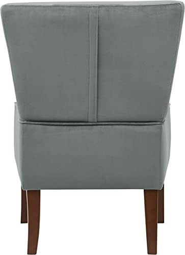 Amazon Brand Rivet Ashworth Armless Velvet Accent Chair
