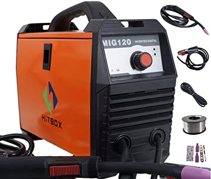 Mig soldar 120 AMP 220 V DC PORTABLE Flux Cored Wire Mini Inverter Gas Less Mig