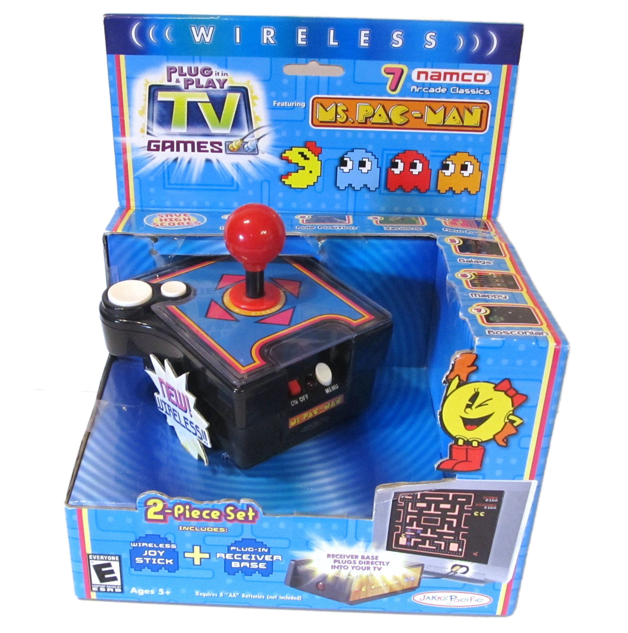 Namco Ms. Pac-Man Wireless 7-in-1 TV Game