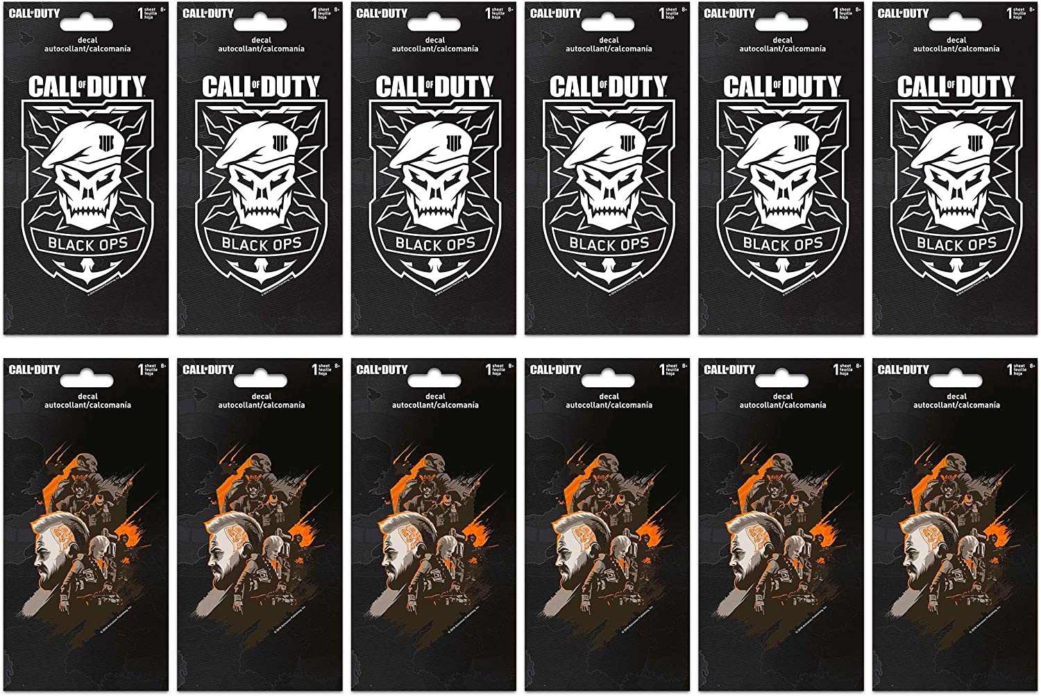 Call of Duty Decals Bundle Set ~ 12 Large Decal Stickers for Car, Laptop, Walls, (Video Game Party Favors)