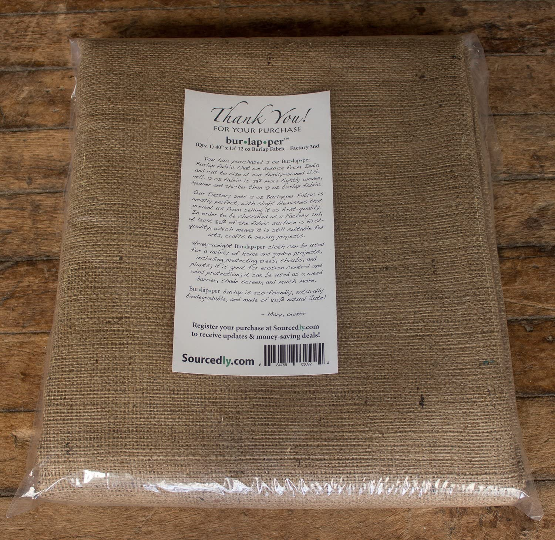 40 x 5 yd factory 2nd Burlapper 12 oz jute burlap fabric sheet