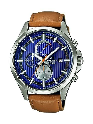 361fd858dd06 Casio Reloj Cronógrafo para Hombre de Cuarzo con Correa en Cuero EFV-520L-2AVUEF   Amazon.es  Relojes