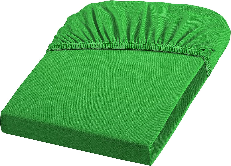 100 x 200 cm 7048 Color Verde Funda Bajera Ajustable Fleuresse Jenny 1115 FB