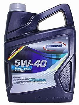 Pennasol Super Pace SAE 5W-40 - Aceite de Motor, 5 L: Amazon.es: Coche y moto
