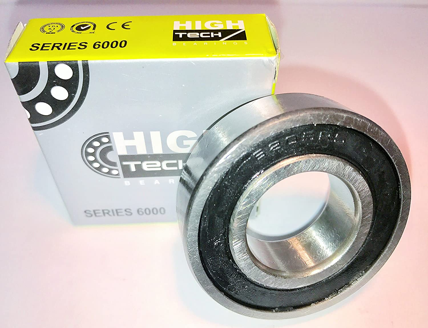 1 6205-2RS Sealed Bearing 25x52x15 Ball Bearing//Pre-Lubricated One