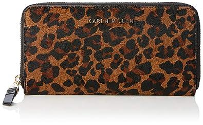 215d45e3d02 KAREN MILLEN Fashions Limited Womens Zip Around Purse Purse Multicolour (Leopard  Print)